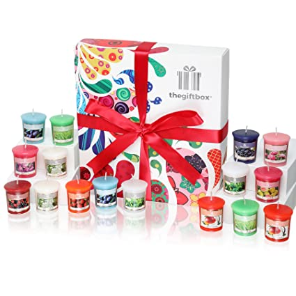Sweetbeam Luxury Candle Gift Set with 16 Scented Wax Candles. Scented  Candles Gift Sets Are 6a2355734