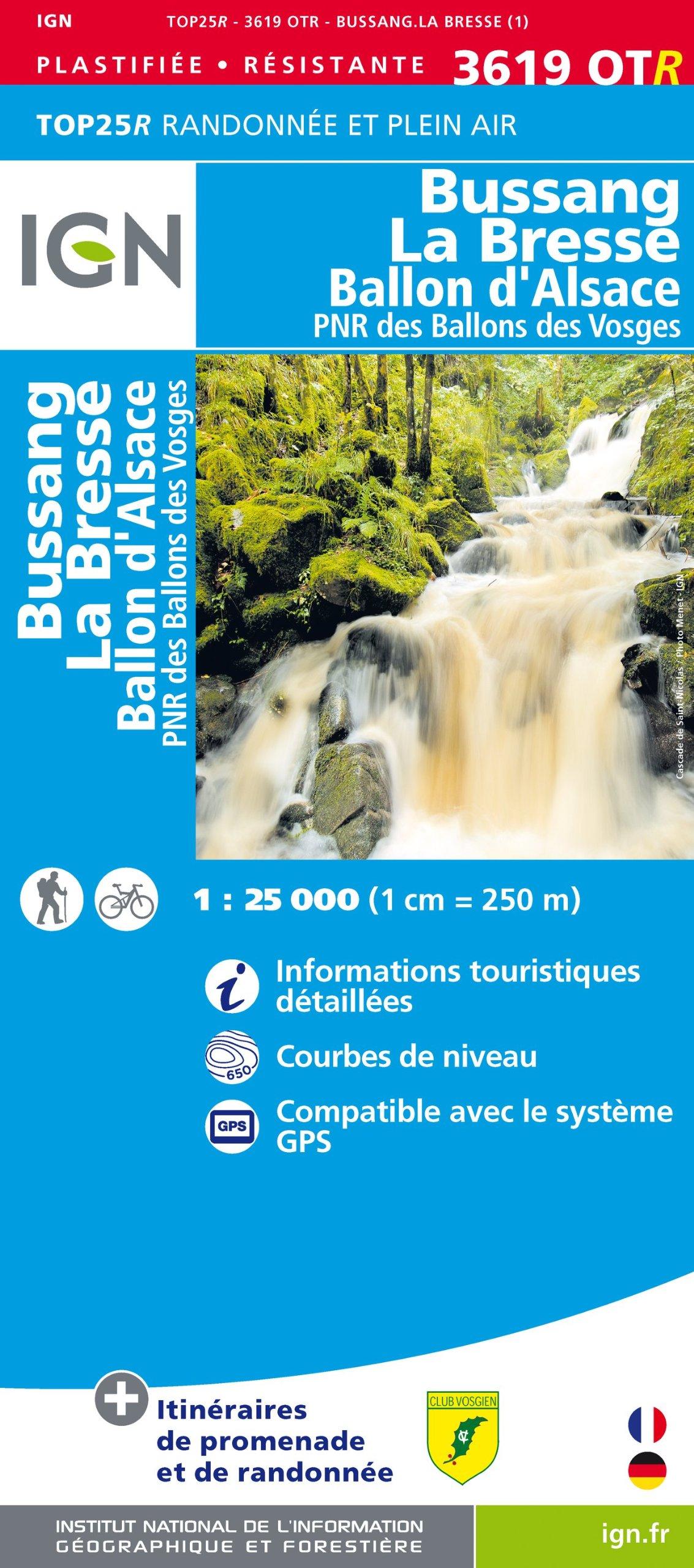 3619OTR BUSSANG-LA-BRESSE/BALLON D'ALSACE (RESISTANTE) Carte – Carte pliée, 12 mars 2013 IGN 2758529378 Gazetteers & Maps) Atlases