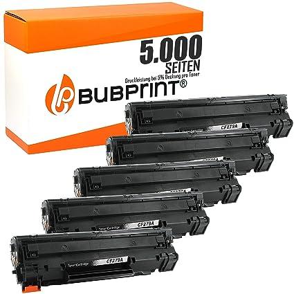 bubprint 5 Tóner compatible para HP cf279a cf279 79a Negro (1000 ...