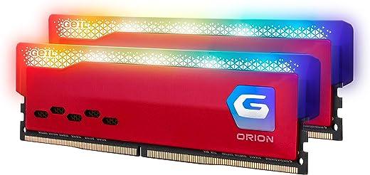 جيل اوريون RGB DDR4 رام 16 جيجابايت (8GBx2) 3200MHz 1.35V XMP2.0، متوافق مع هواتف Intel/AMD، ذاكرة سطح المكتب عالية السرعة طويلة، إنشاء محتوى الوسائط المتعددة/بث مباشر بجودة عالية