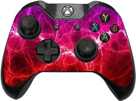 2 pegatinas para mando de Xbox One/S con diseño de tormenta espacial de galaxia roja y rosa: Amazon.es: Hogar