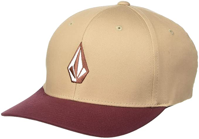 Volcom Mens Full Stone Flexfit Hat Sand Brown S/M: Amazon.es ...