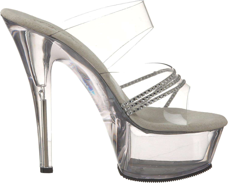 Pleaser Womens Kiss 202R Platform Sandal