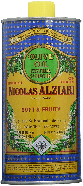 Nicolas Alziari Extra Virgin Olive Oil Fuitee Douce 17 Fl.oz (500mL) (Pack of 6)