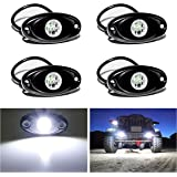YONEDA LED Rock Lights 4PODS Waterproof LED Neon Underglow Light for Car Truck ATV UTV SUV Jeep Offroad Boat Underbody…