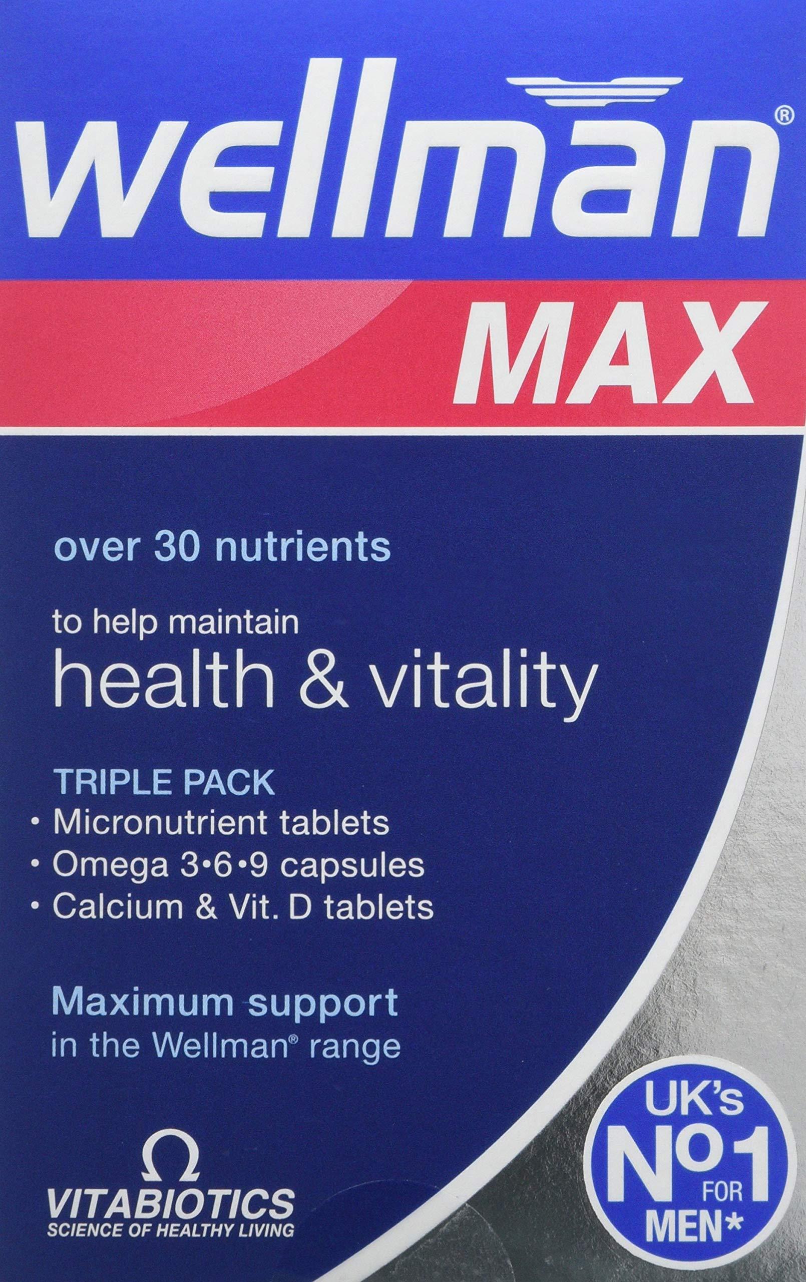 Vitabiotics Wellman Max - 84 Tablets/Capsules
