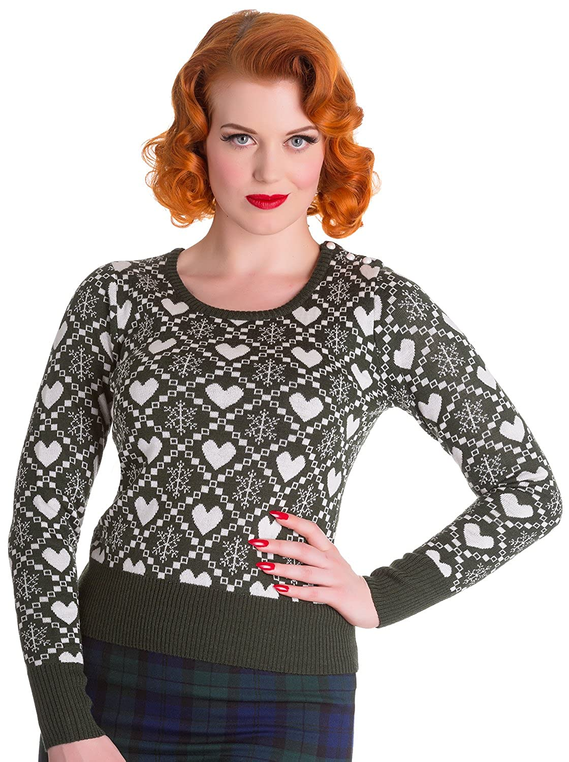 1950s Style Sweaters, Crop Cardigans, Twin Sets  Aurora Sweater Jumper  AT vintagedancer.com