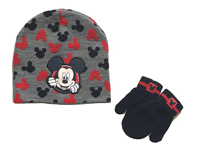 63c648de8 Mickey Mouse Baby Boys Toddler Winter Hat & Mitten Set