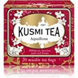 Kusmi Tea - AquaRosa - Red Berry Tea Blend with Hibiscus, Strawberry, Blackberries, and Elderberry - All Natural…