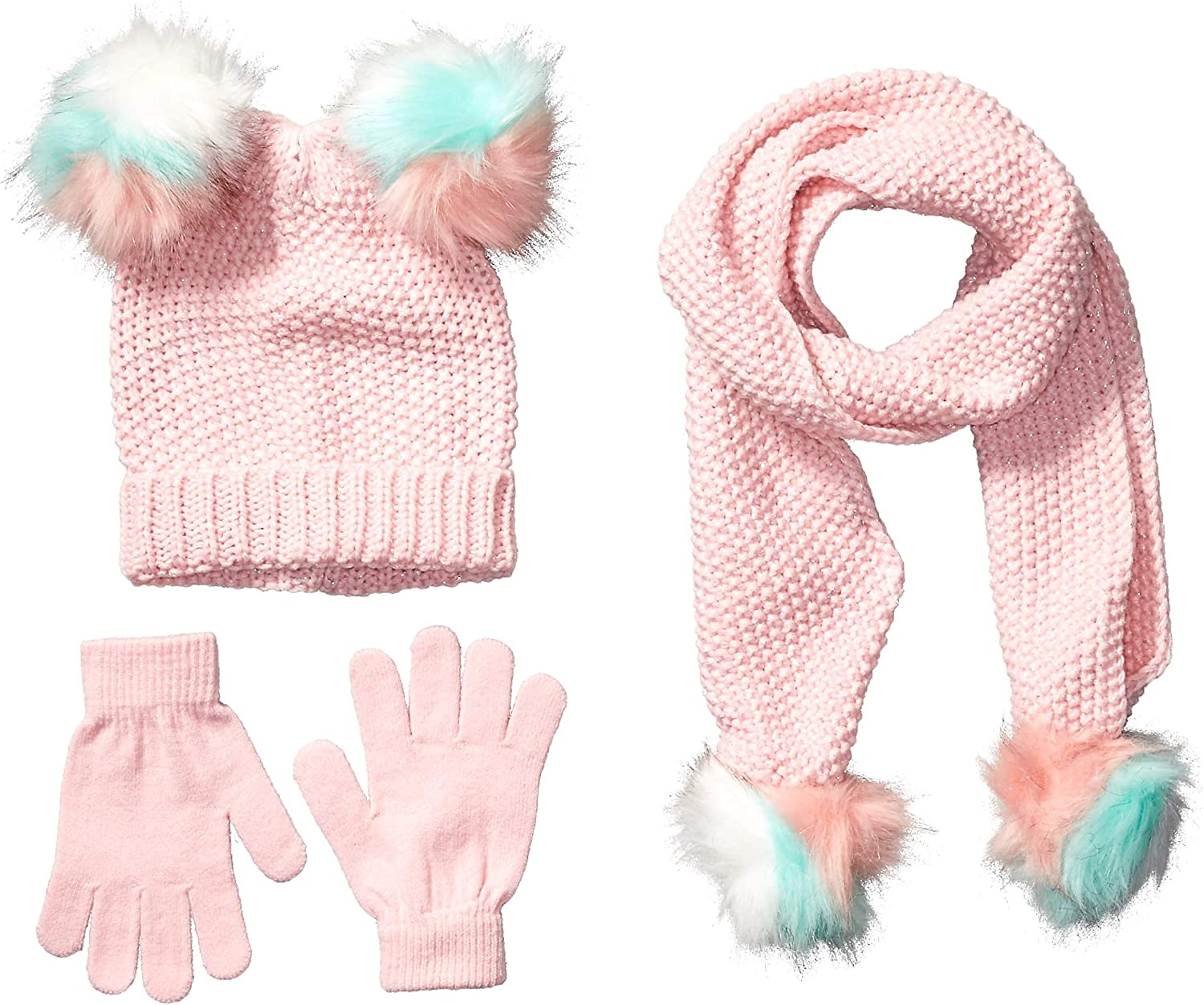 Brand - Spotted Zebra Girls Hat Scarf Mittens Gloves Cold Weather Accessories Sets: Clothing