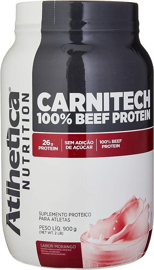 Carnitech 100% Beef Protein Evolution Series, 907g Morango, Atlhetica Nutrition por Atlhetica Nutrition