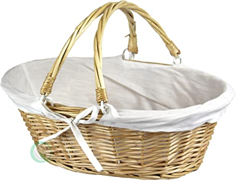 Oval Willow Basket with Double Drop Down Handles best easter basket