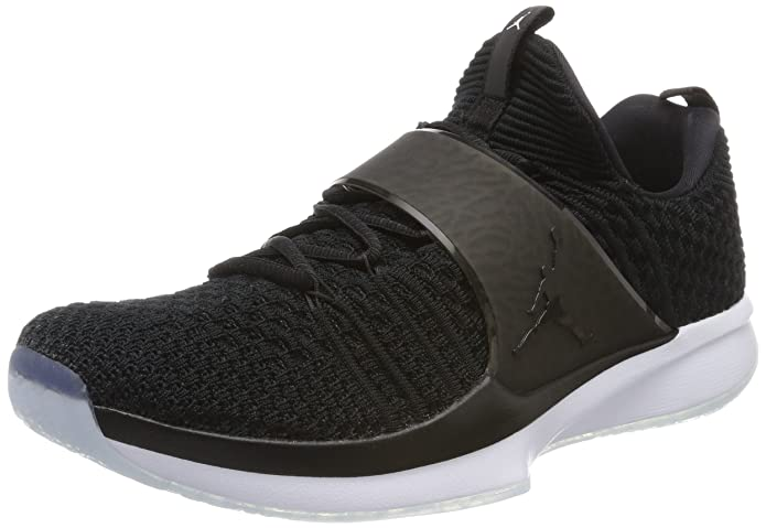 Amazon.com | NIKE Air Jordan Trainer 2 Flyknit Mens Basketball Trainers 921210 Sneakers Shoes (UK 7.5 US 8.5 EU 42, Black White 010) | Basketball