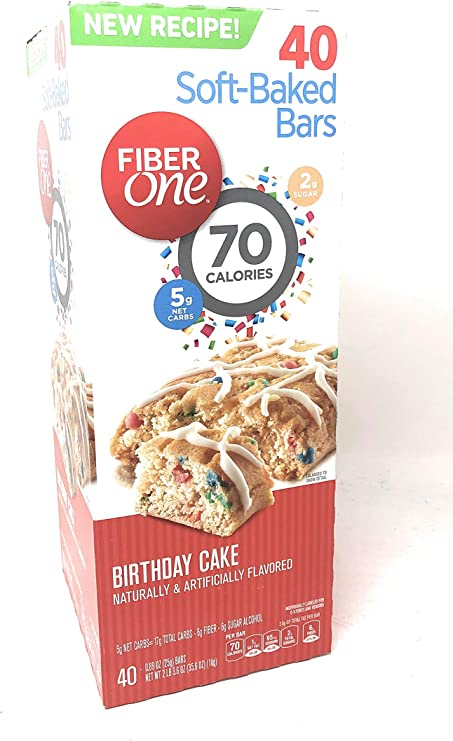 Superb Amazon Com Fiber One 70 Calorie Birthday Cake Bars 40 Bars Personalised Birthday Cards Paralily Jamesorg