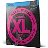 D'Addario ESXL170 Nickel Wound Bass Guitar Strings, Light, 45-100, Double Ball End, Long Scale