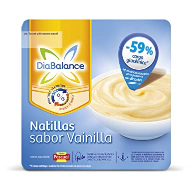 DiaBalance Natillas Vainilla - Paquete de 4 x 100 gr - Total: 400 gr