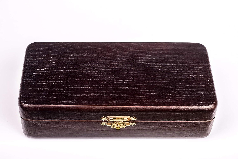 Grand - 9,4 x 4,4 /étui de rangement pour pipe /à tabac Dr Watson kit de nettoyage Coffret cadeau en bois