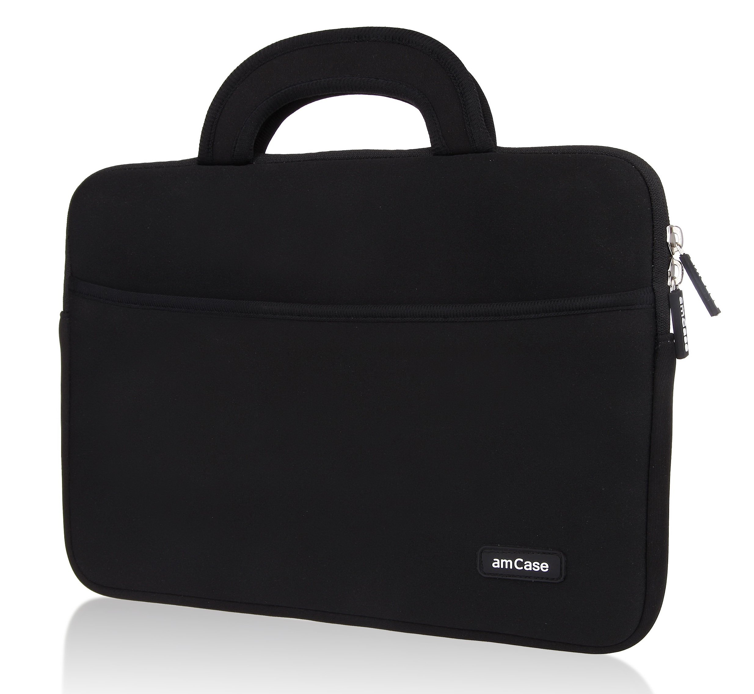 amCase Chromebook Case-11.6 to 12 inch Neoprene Travel Sleeve with Handle-Black by amCase