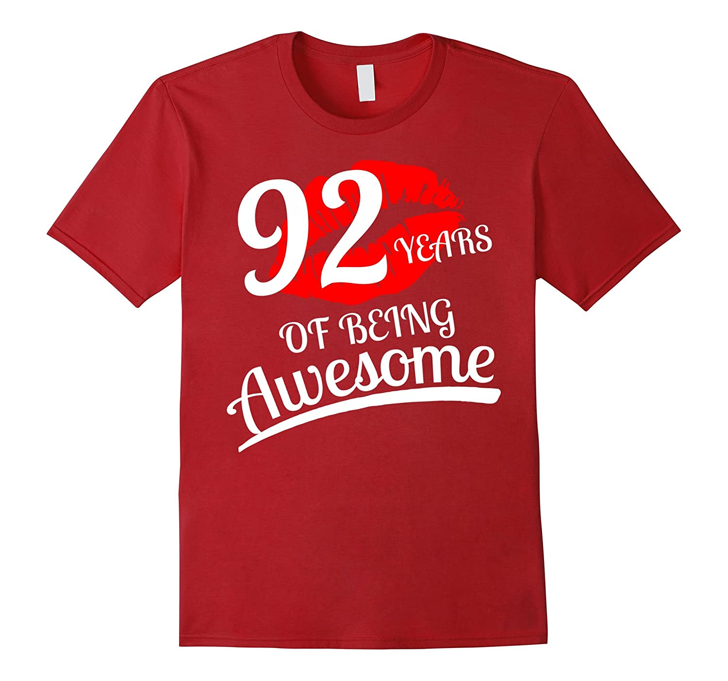 92 Years Of Being Awesome 92nd Birthday T-Shirt-PL