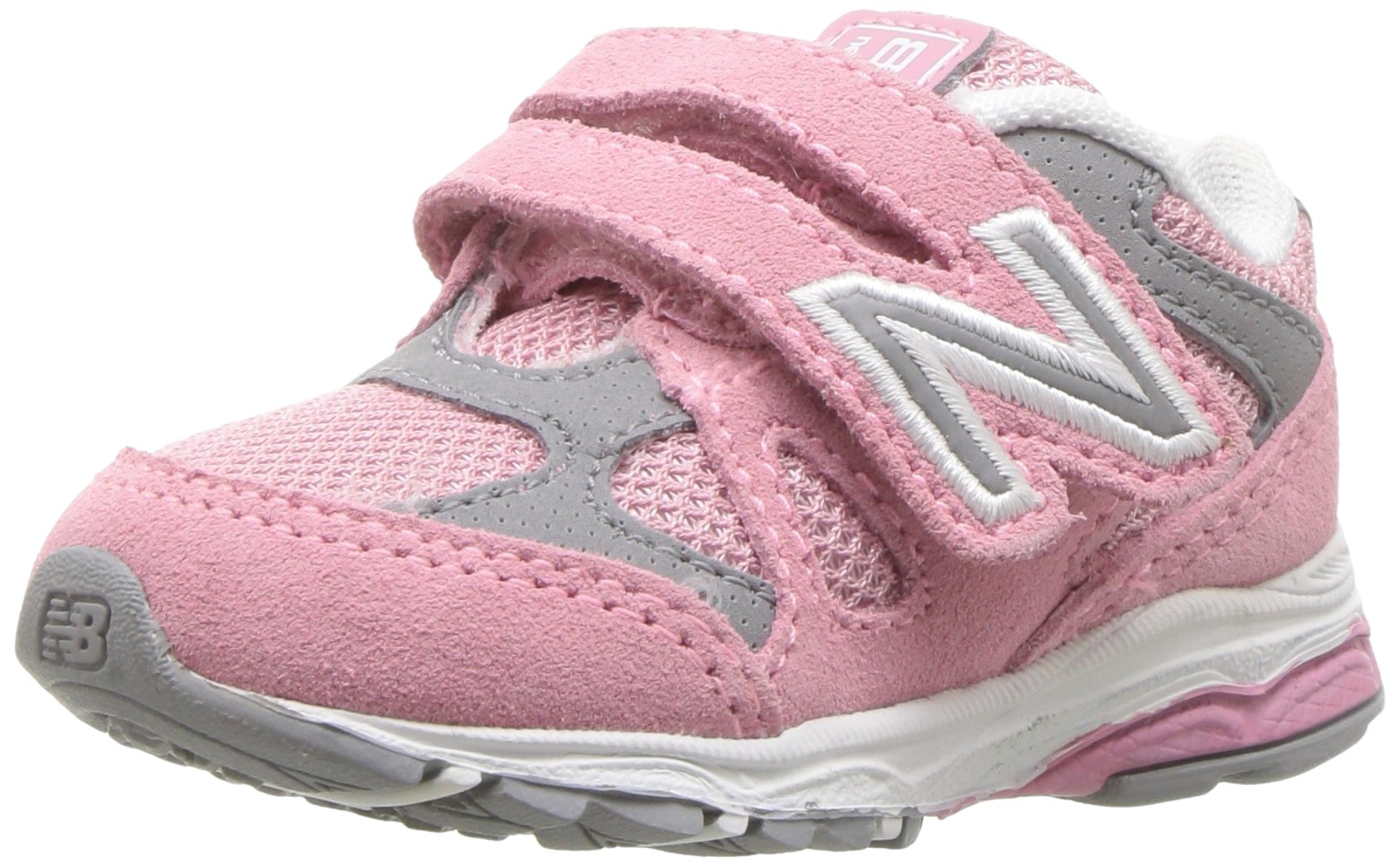 dba94502fbc43 Galleon - New Balance Girls' 888v1 Hook And Loop Running Shoe, Pink/Steel,  3 XW US Infant