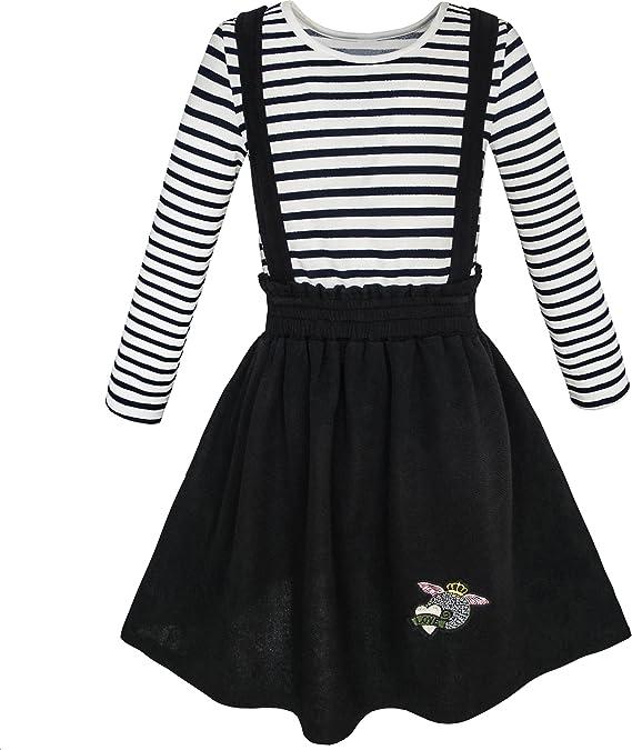 Sunny Fashion Vestido para niña 2 Piezas Conjunto Camiseta Liga ...