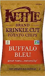 product image for Kettle Brand Potato Chips, Krinkle Cut Buffalo Bleu, 8.5 Ounce