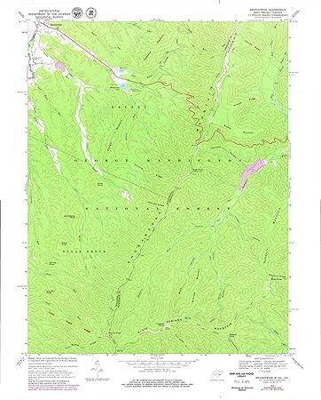 Topographic Map West Virginia.Amazon Com West Virginia Maps 1969 Brandywine Wv Usgs Historical