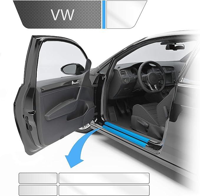 Blackshell Einstiegsleistenschutz Folie Inkl Premium Rakel Passend Für Golf Variant Limousine Typ Au Bj 2012 2019 5 Türer Transparent Passgenaue Lackschutzfolie Auto