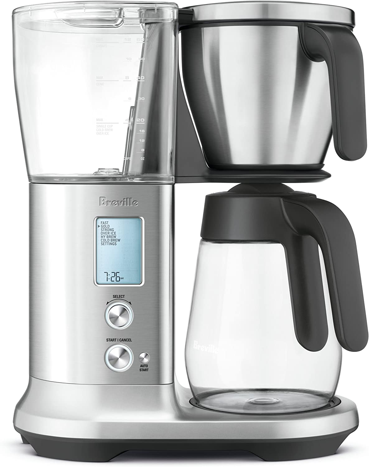 Breville BDC400BSS Precision Brewer Coffee Maker with Glass Carafe, Brushed Stainless Steel