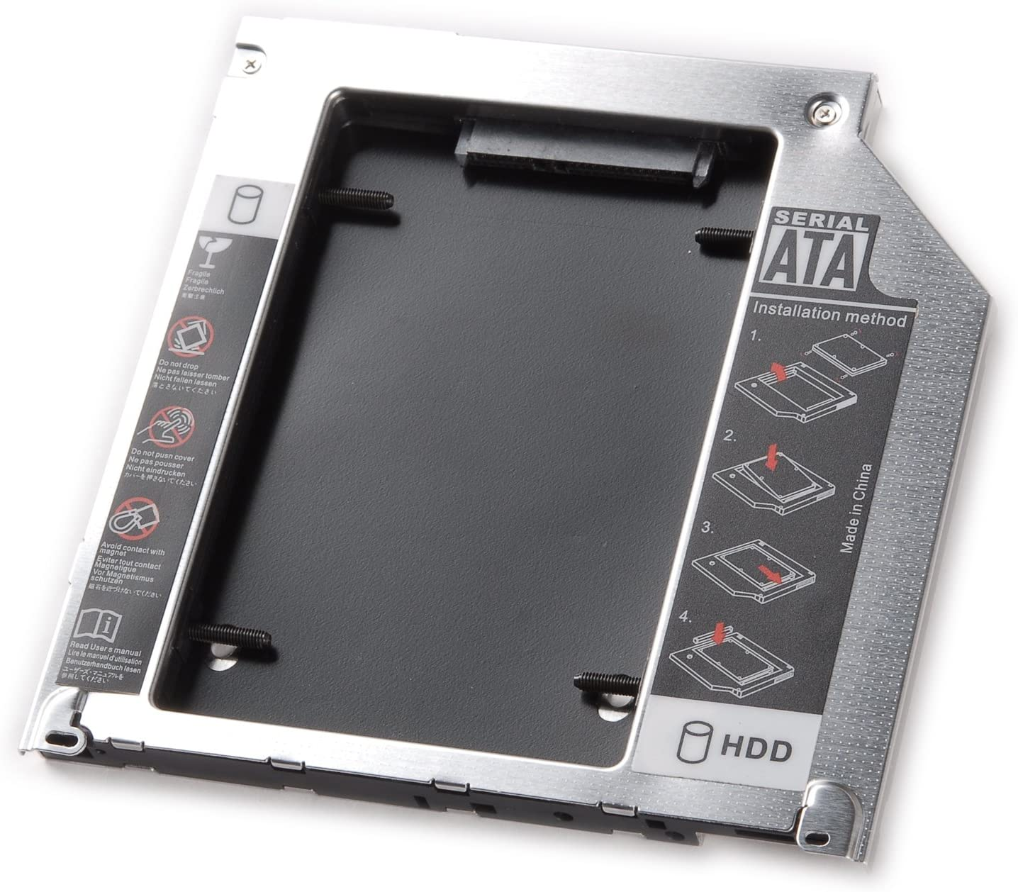 tinxi® Segundo HDD Caddy Segundo HDD/SSD SATA Bay Caddy para ...