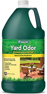 NaturVet – Yard Odor Eliminator | Eliminate Stool and Urine Odors from Lawn and Yard | Designed for Use on Grass, Plants, Patios, Gravel, Concrete & More | 64 oz Refill