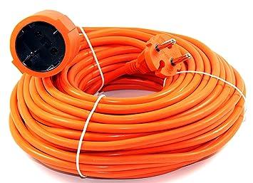 Verlängerungskabel 20m Orange Verlängerung Kabel Stromkabel Garten