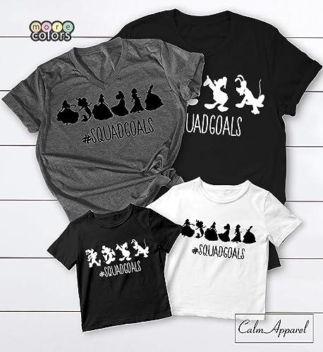 7d3823fb12994f Amazon.com  Disney Squad Goals Shirts