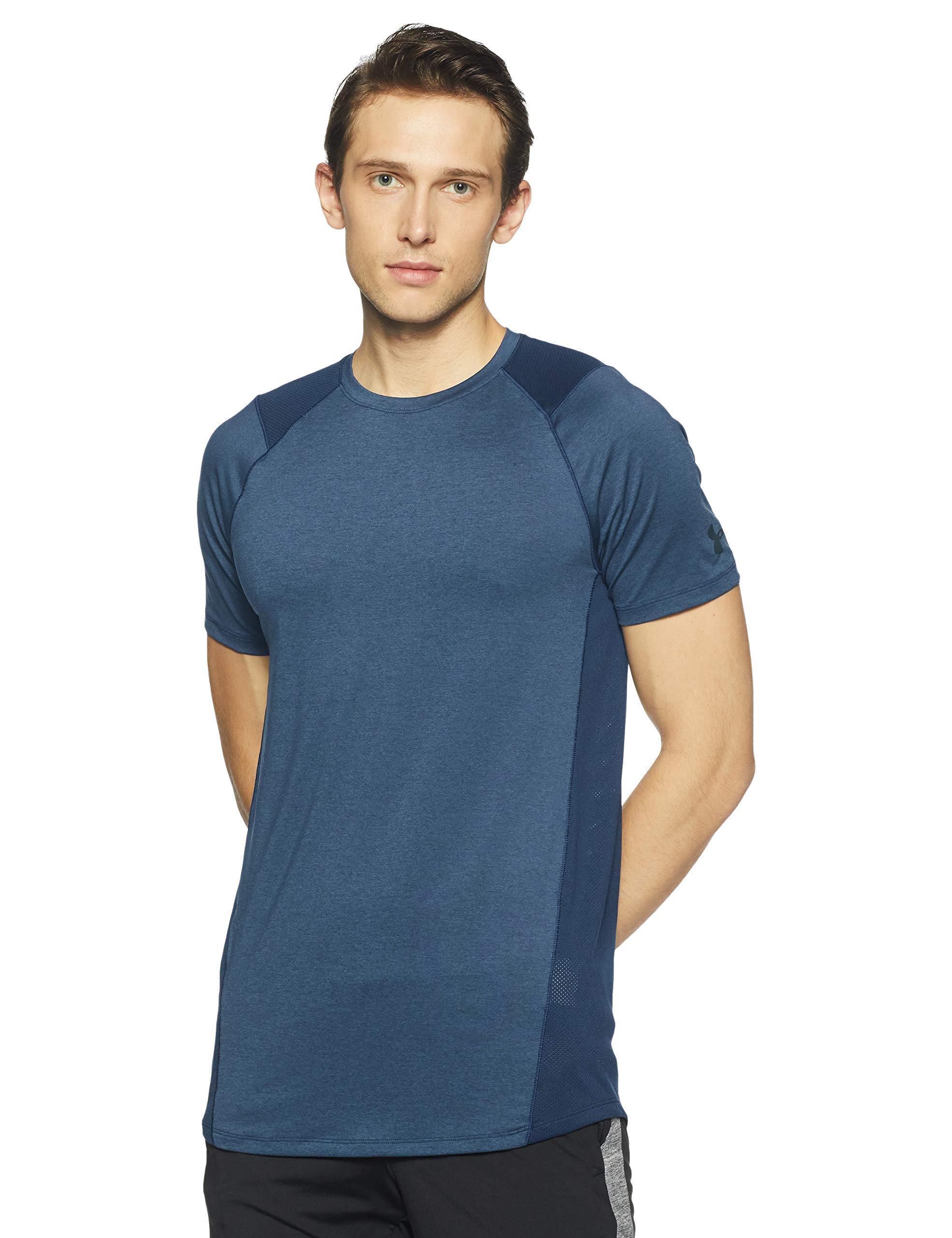 Under Armour Men's MK-1 Short Sleeve Shirt, Academy (408)/Stealth Gray, X-Small
