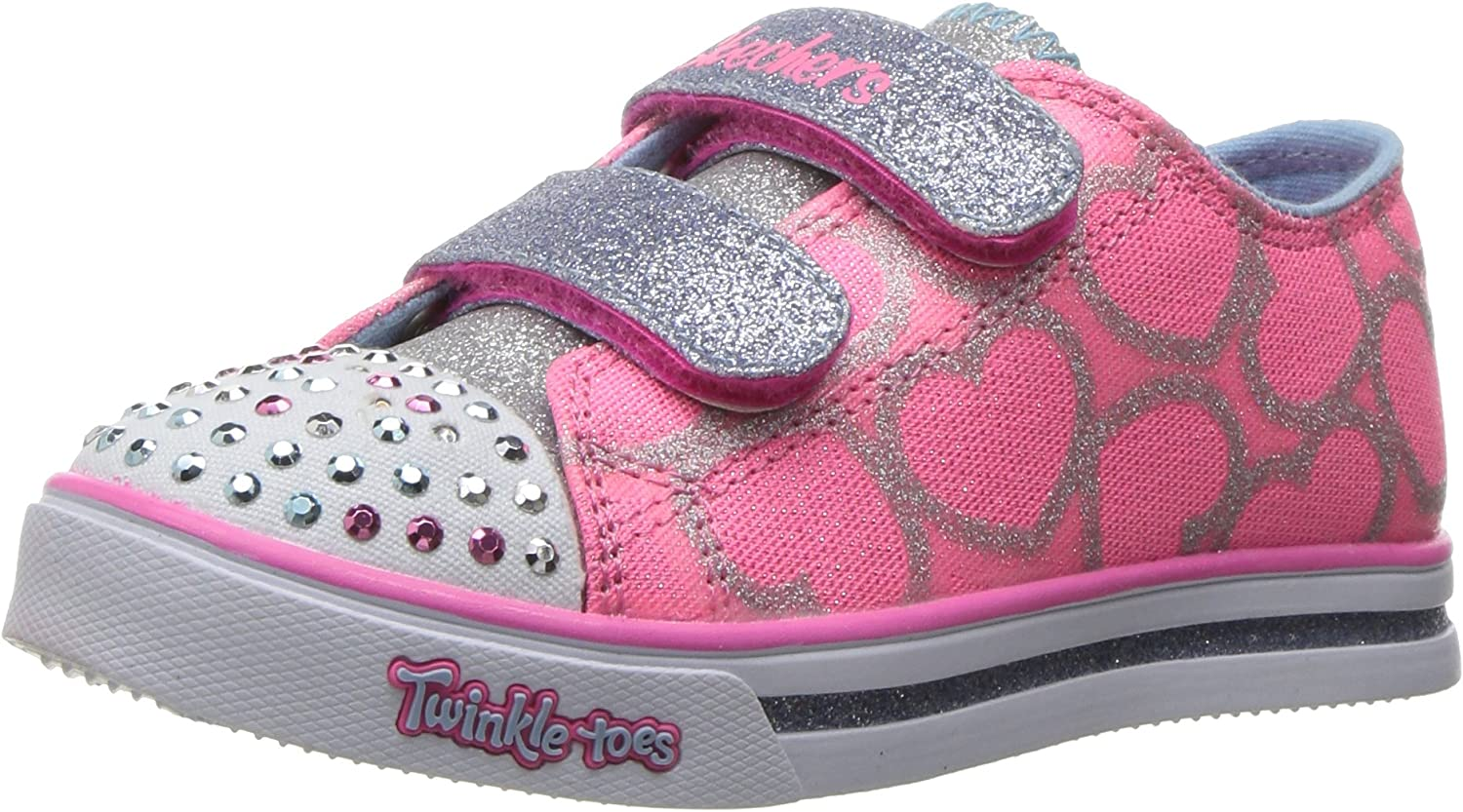 oferta choque apetito  Amazon.com | Skechers Kids Twinkle Toes Shuffles Sweet Steps Light-Up  Sneaker | Sneakers