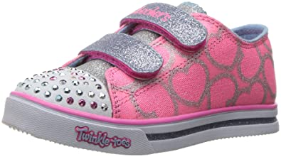 a1e9ed32ba4d Skechers Kids Twinkle Toes Shuffles Sweet Steps Light-Up Sneaker