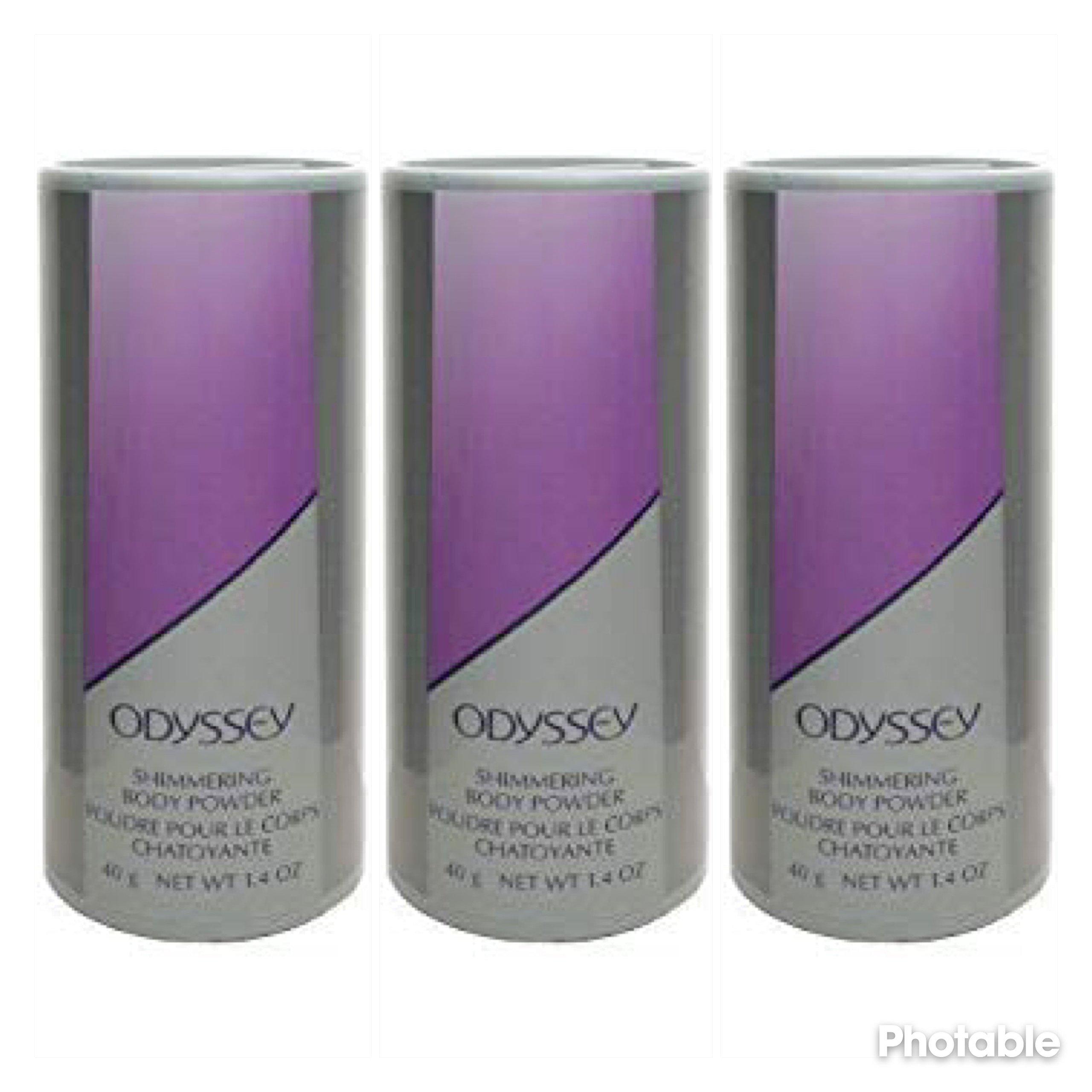 Avon Odyssey Shimmering Body Powder Talc 1.4 oz each - LOT OF 3