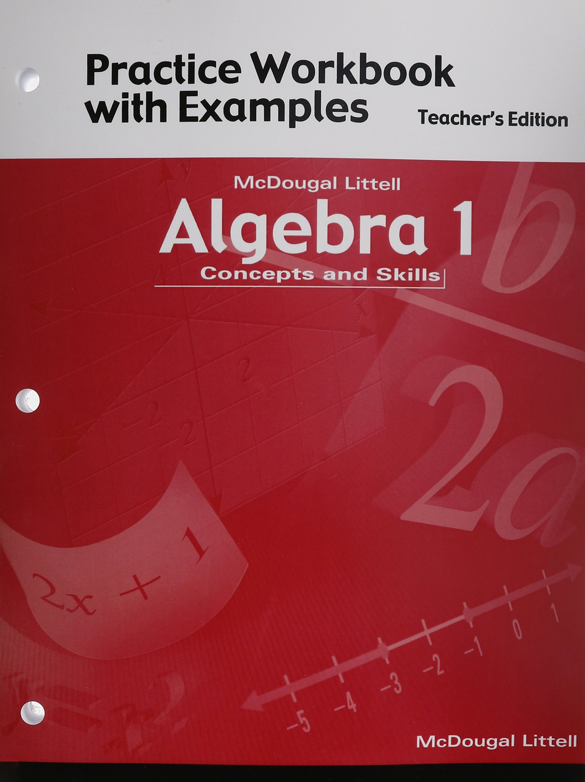 Worksheets Mcdougal Littell Algebra 1 Worksheet Answers algebra 1 concepts and skills practice workbook with examples teacher edition amazon co uk mcdougal littel 9780618078707 book