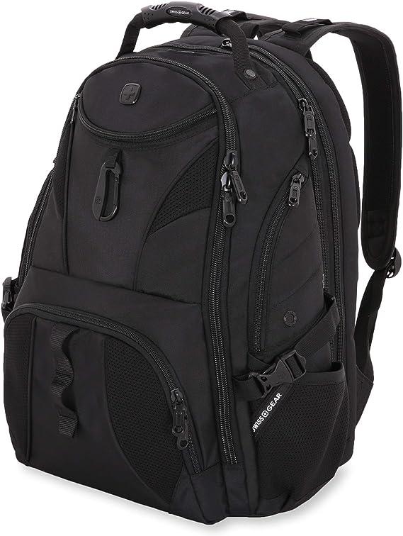 SWISSGEAR 1900 ScanSmart TSA Laptop Backpack- Black/Black