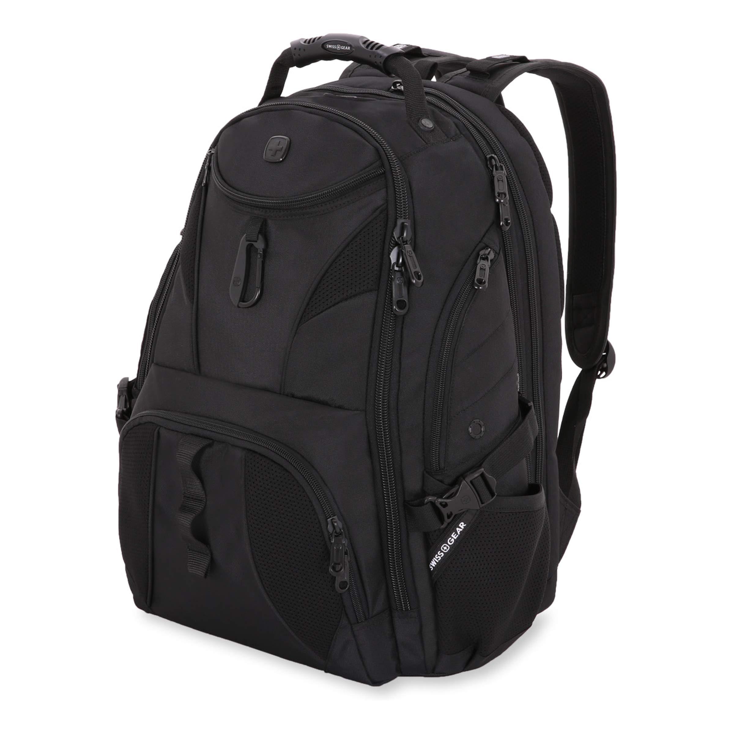 SWISSGEAR Travel Gear 1900 Scansmart TSA Laptop Backpack Black/Black by Swiss Gear