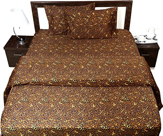 Leopard Print 100/% Cotton Collection Fitted Sheet All Size 600 Thread Count