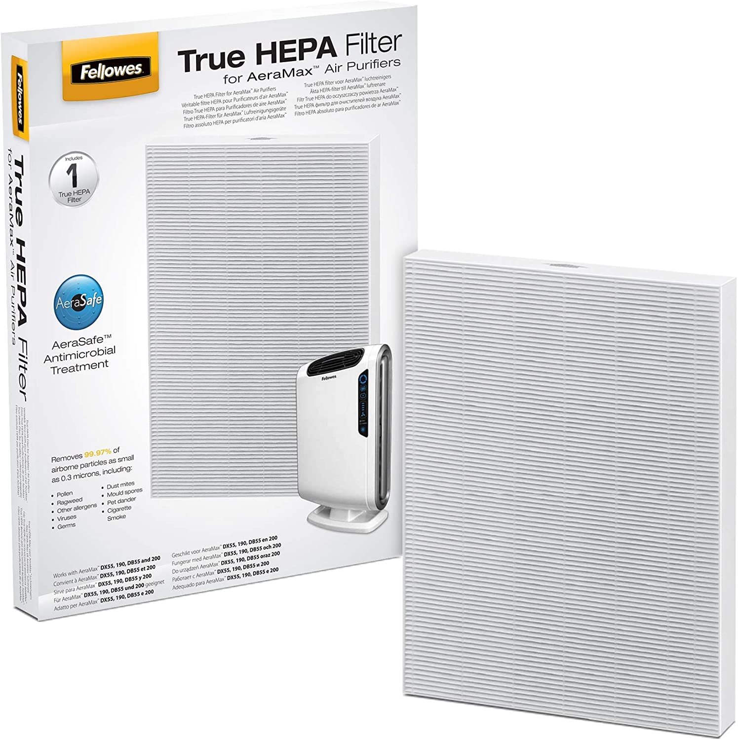 Fellowes True Hepa - Filtro para purificador de aire AeraMax DX-95: Amazon.es: Hogar