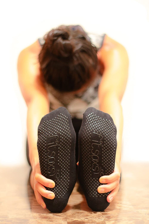 2 Paare Premium Rutschfeste Yoga Socken - Bio Baumwolle - 2 Pack - Premium Yoga Socks fitsoxs