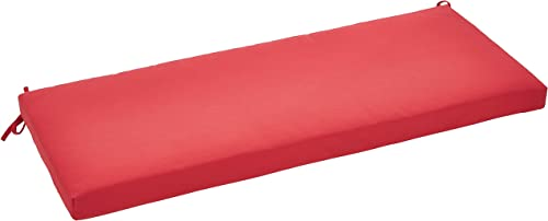 AmazonBasics Outdoor Patio Bench Cushion – 45 x 18 x 2.5 Inches, Red