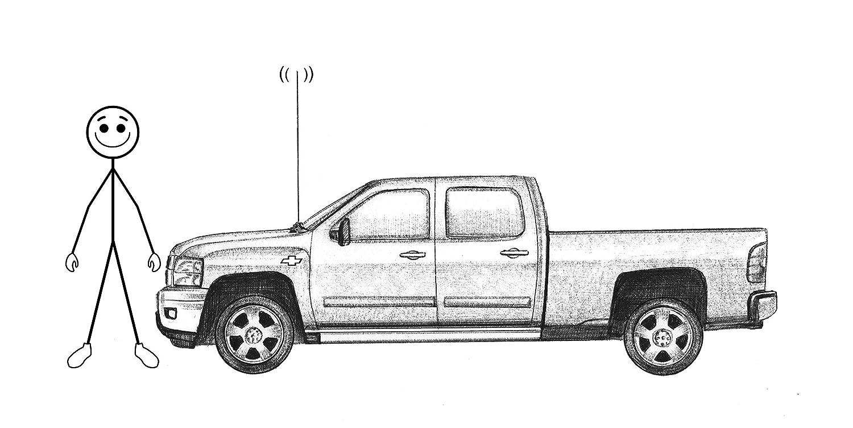 GMC Trucks and Cadillac Escalade SUVs Triluca EAF Antenna and Easy Antenna Fix for Chevy A