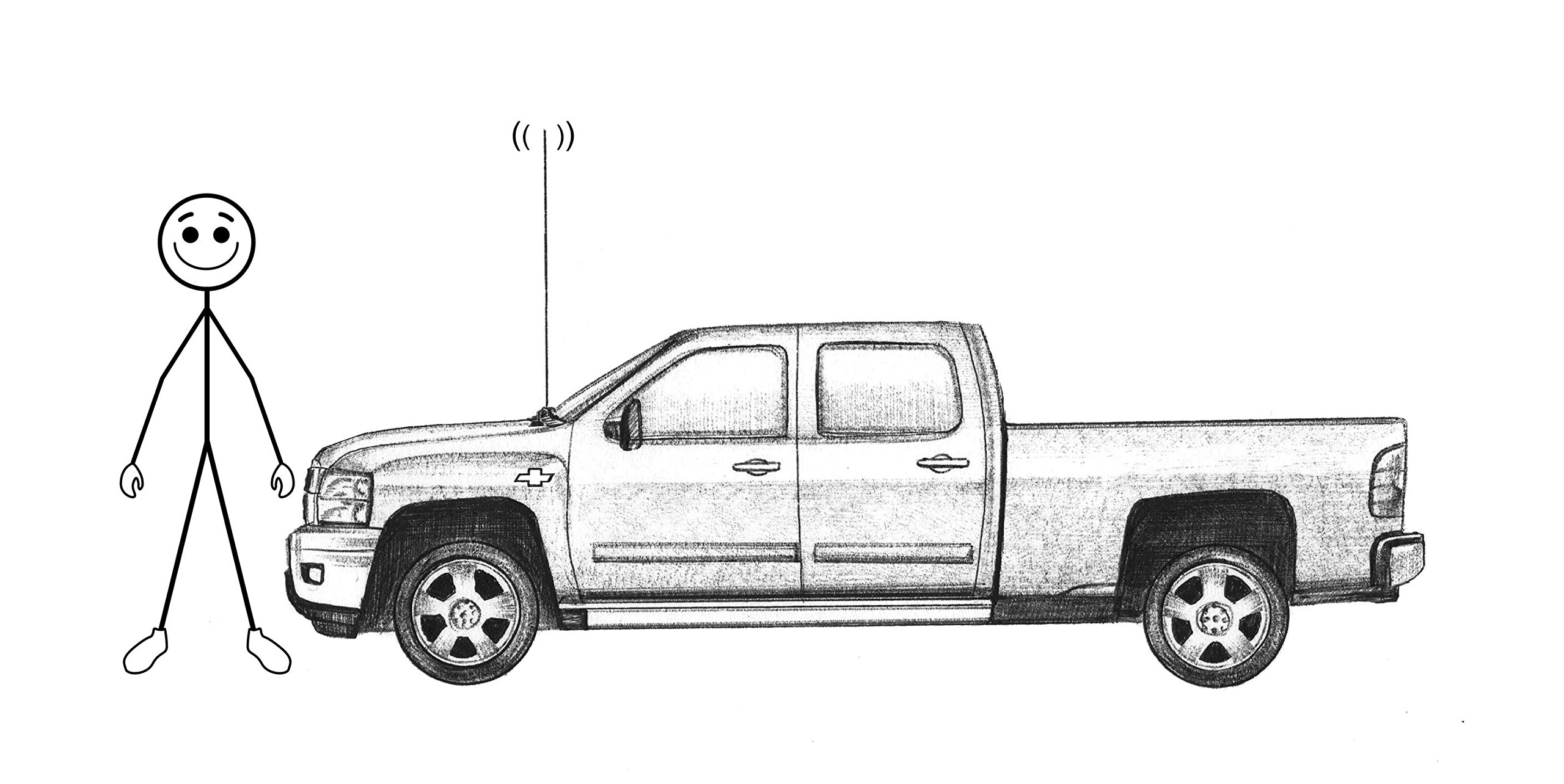 Easy Antenna Fix Chevy Truck, GMC or Cadillac--Antenna mount repair by Triluca