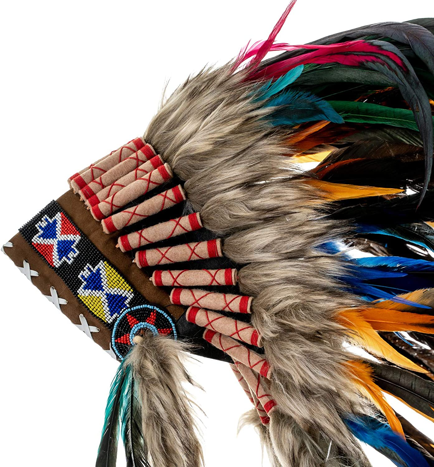 Choose Color Native American Indian Inspired Novum Crafts Feather Headdress