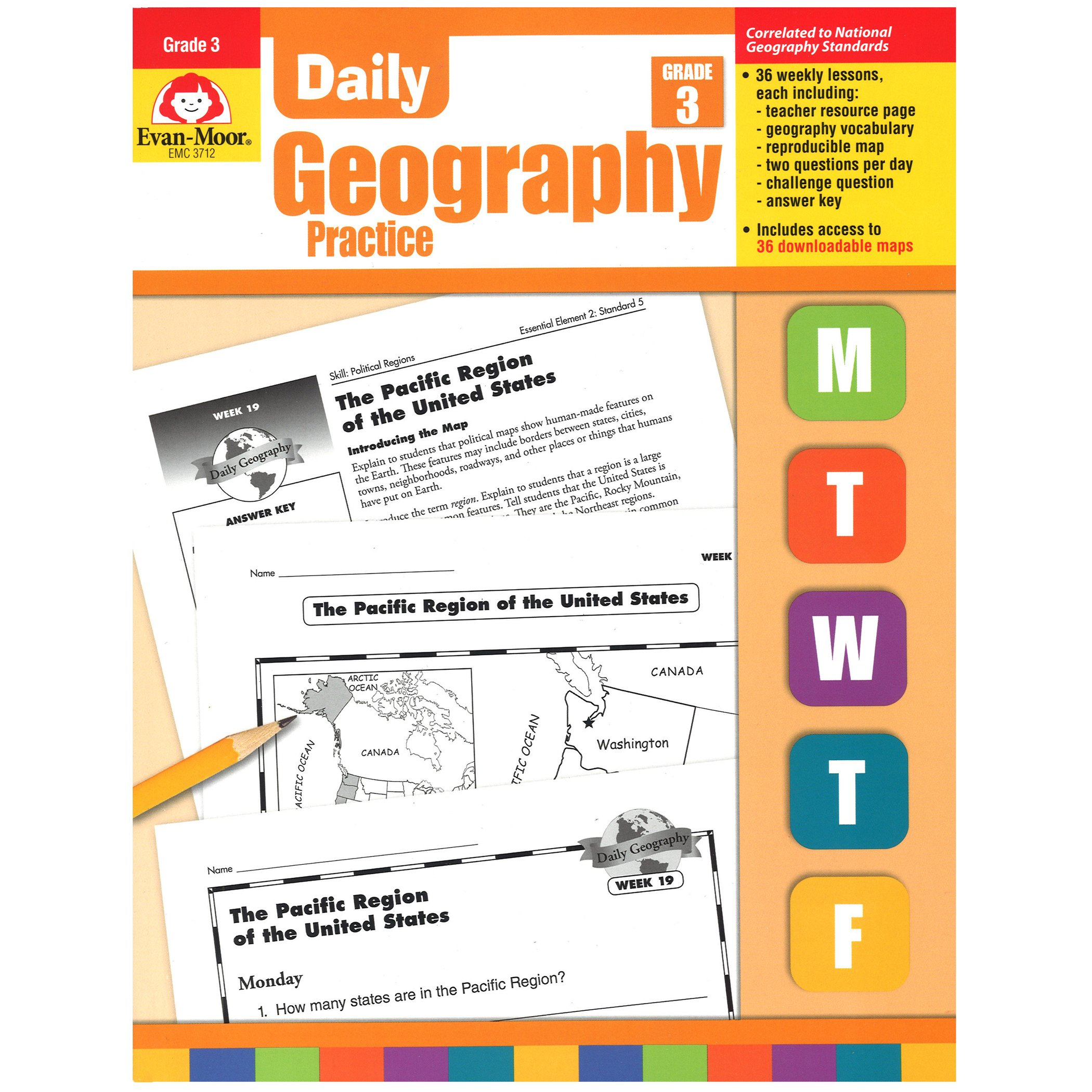 Map Of Canada For Grade 3.Daily Geography Practice Grade 3 Amazon Ca Evan Moor Educational