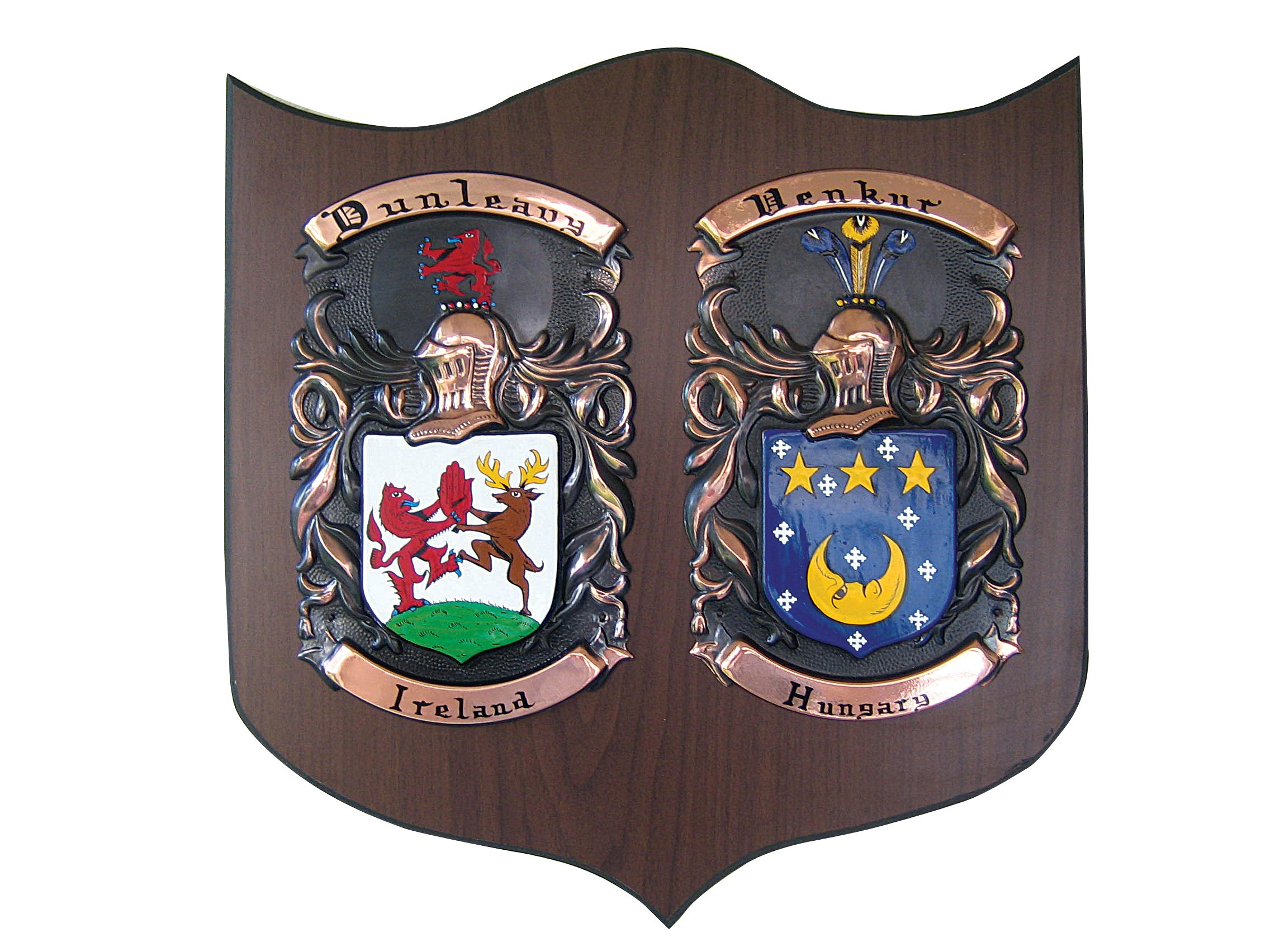 Copper Knight Double Family Crest