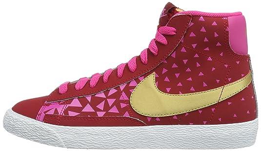 half off 15c56 9d99e Nike - Zapatillas de deporte Blazer Mid Vintage (GS), Bebé-Niñas, Blanco  (Black White-Hyper Punch 010)  Amazon.es  Zapatos y complementos